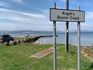 Argyll's secret coast road sign