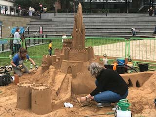 Sandcastles in Manchester
